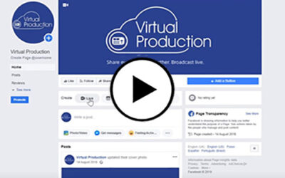 How to stream to Facebook with SONY Virtual Production service